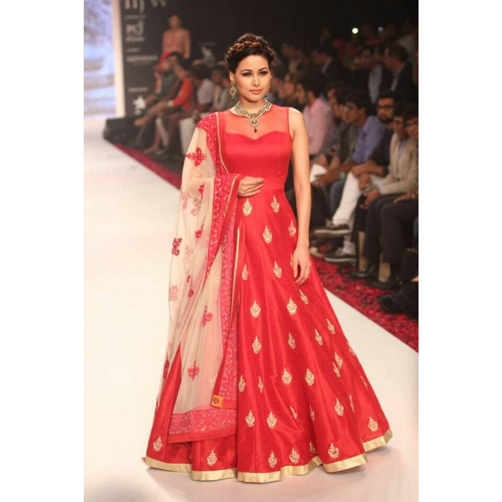 Embroidery Semi Stitched Anarkali Suit