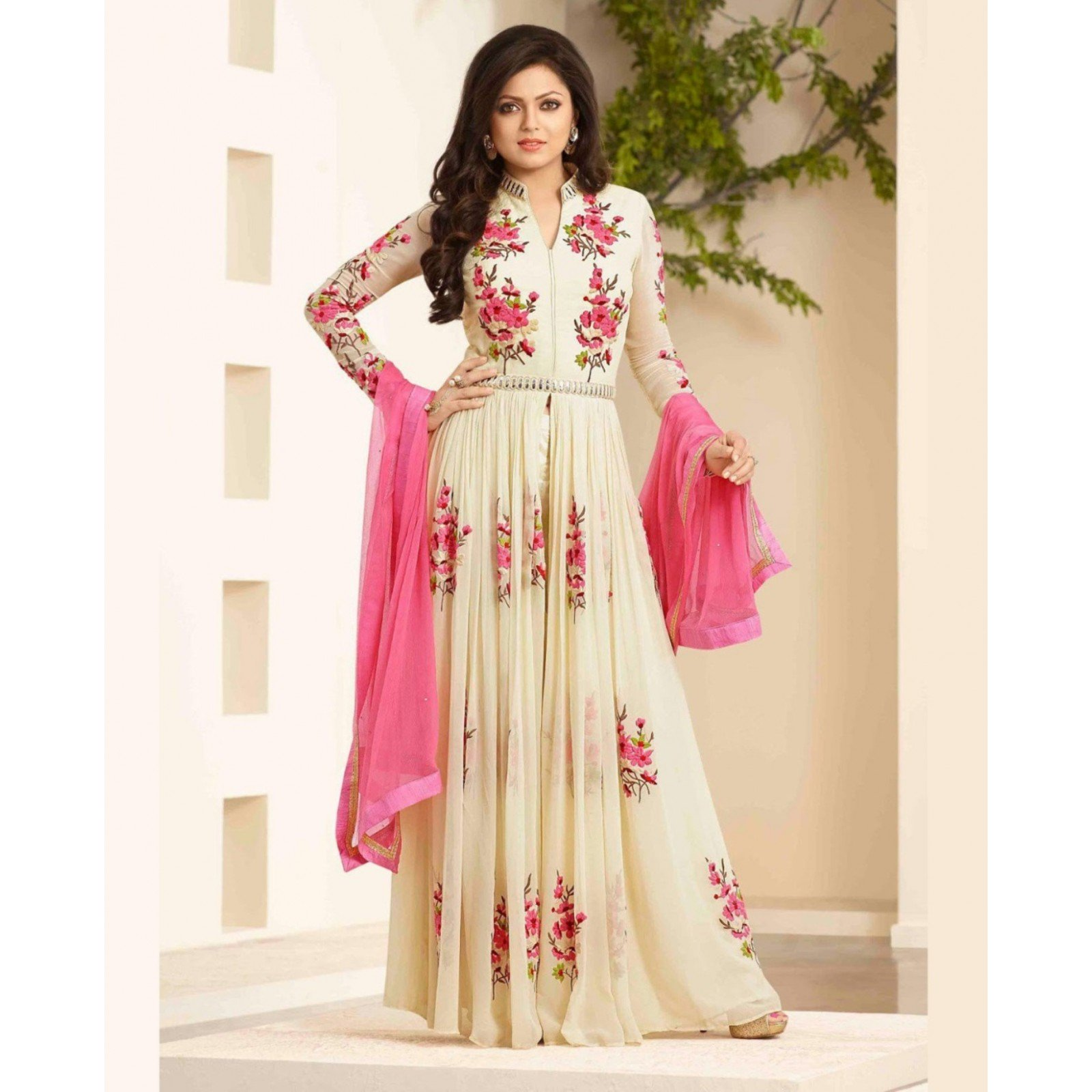 Embroidery Semi Stitched Suit