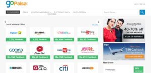GoPaisa online offers with cashback