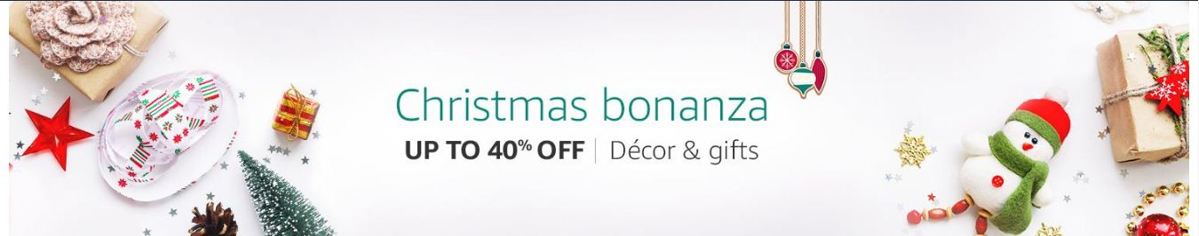 Amazon Christmas Bonanza Offers Upto 40% Off