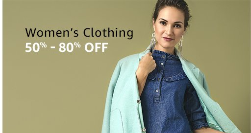 Amazon Women's Fashion Clothes Up to 50 to 80% Off