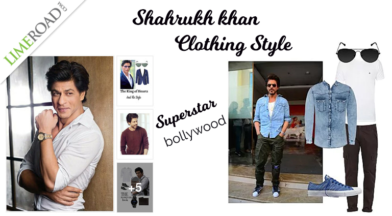 Bollywood Actor Sahrukh Khan Style Shirt Pants T-shirt and More Fashion Clothes 2018
