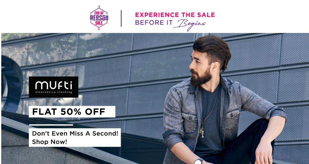 Myntra Mufti Alternative Clothing Flat 50% Off