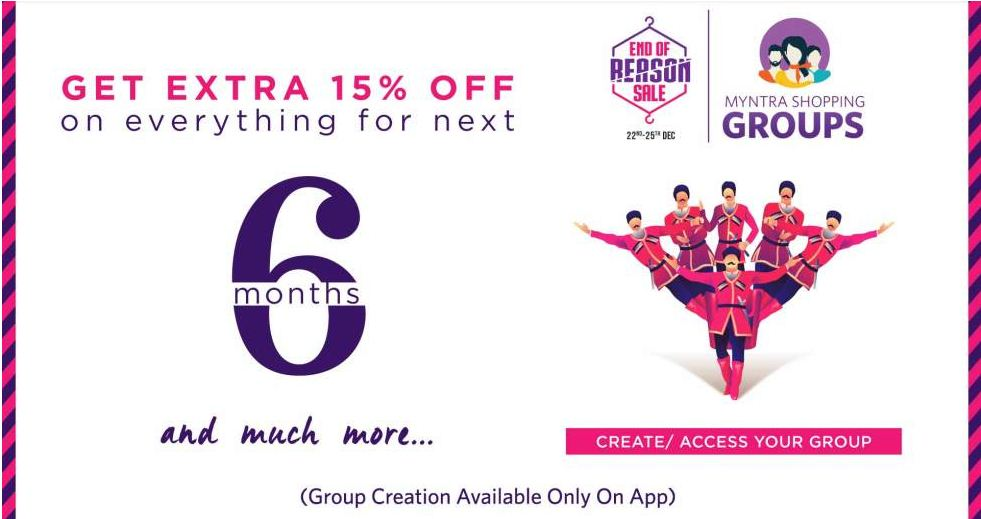 Myntra Shopping Groups Get Extra 15% Off