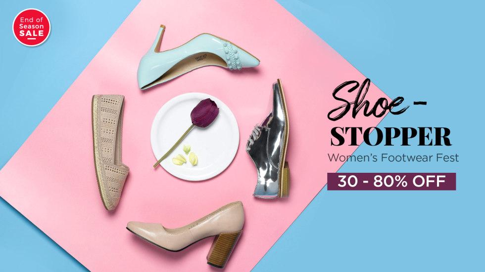 Myntra Women Footwear Fest Up to 80% Off