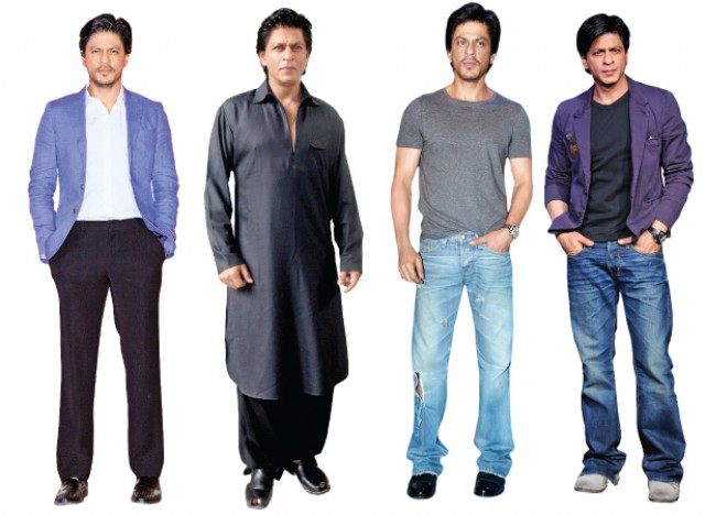 Sahrukh Khan is Black Khan Stylish Clothes