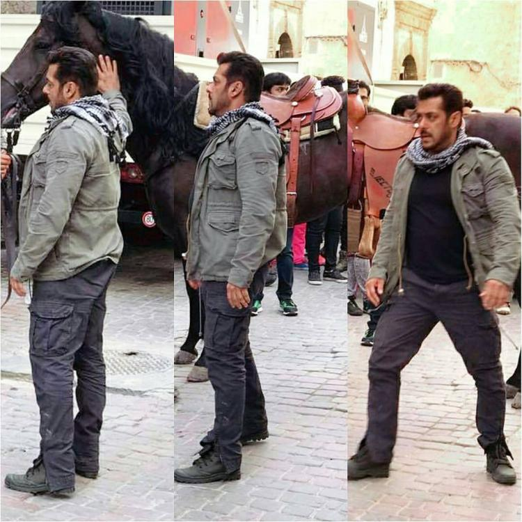 Salman Khan Tiger Zinda Hai Black Cotton Kargo Jeans Look