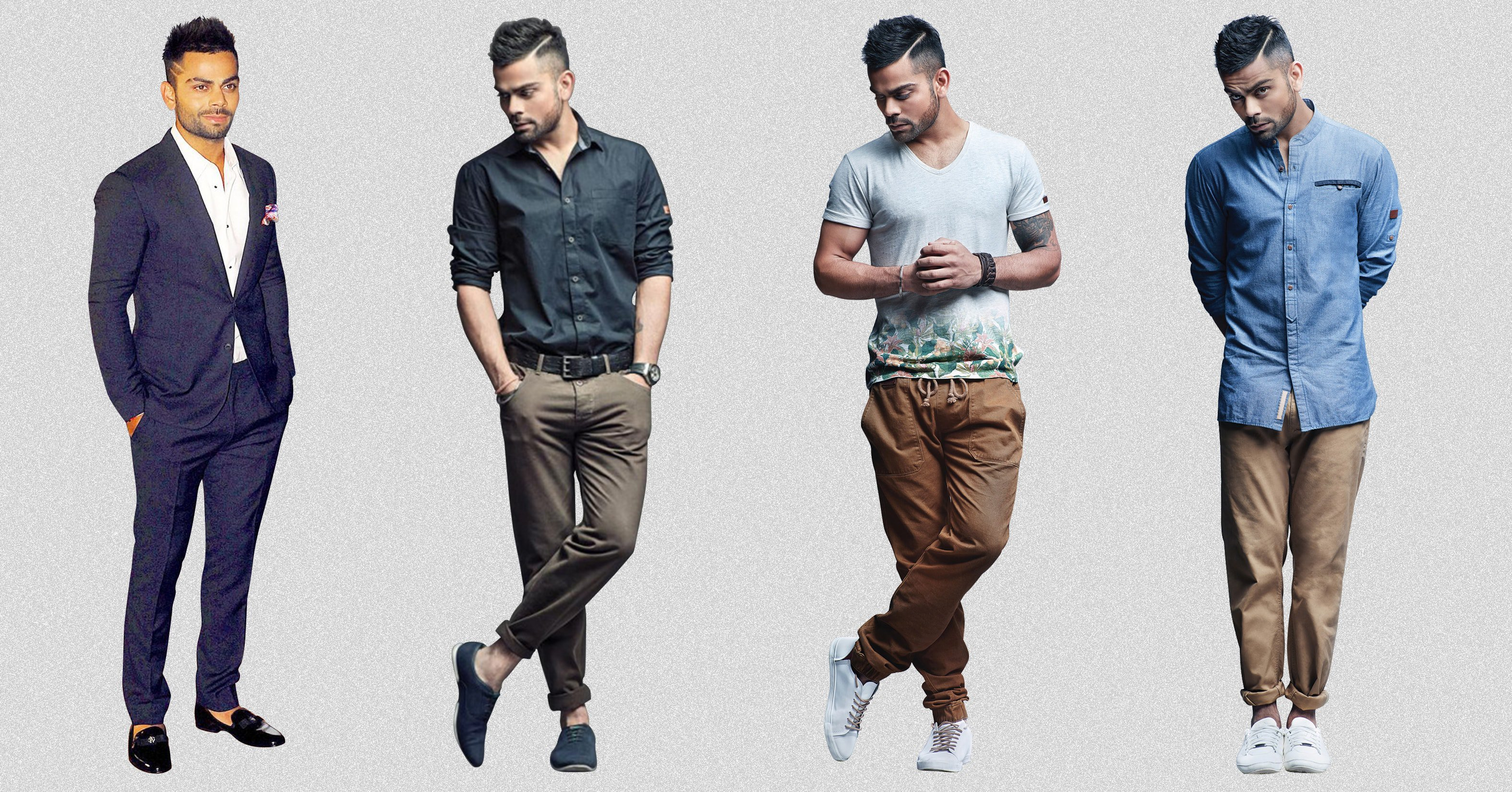 Style Virat Kohli Fashion Clothes Different Look