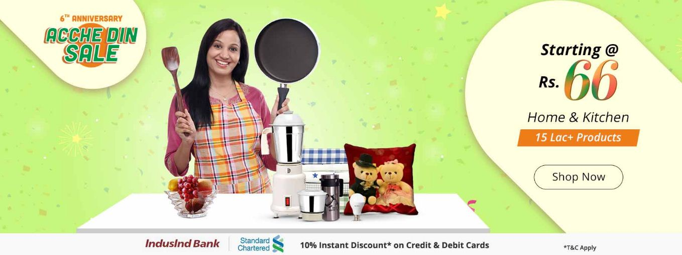 Shopclues Achhe Din Sale starting at Rs 66
