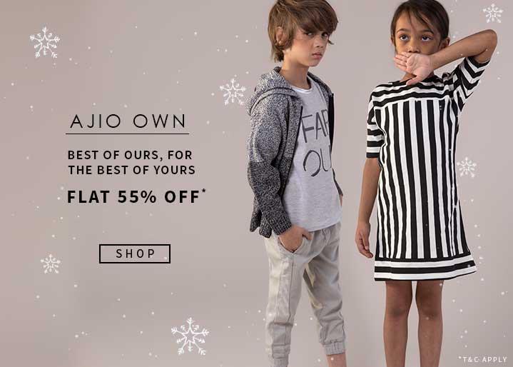 Ajio Own Flat 55% Off