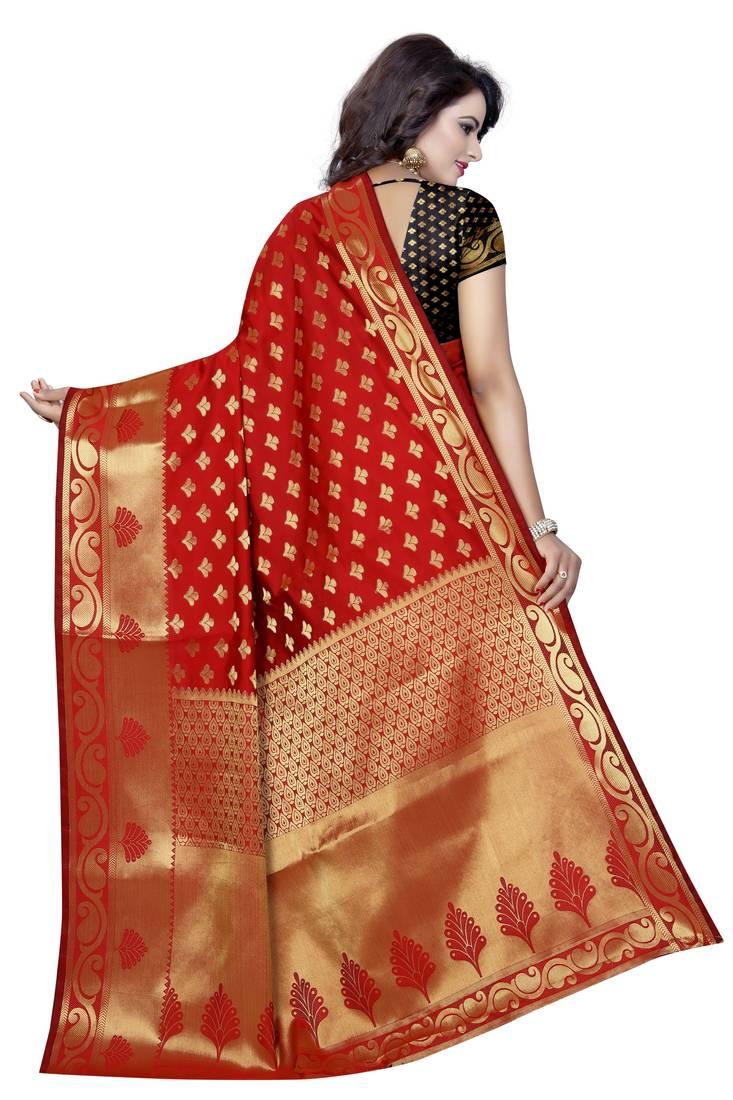 Black Printed Banarasi Silk Sarees