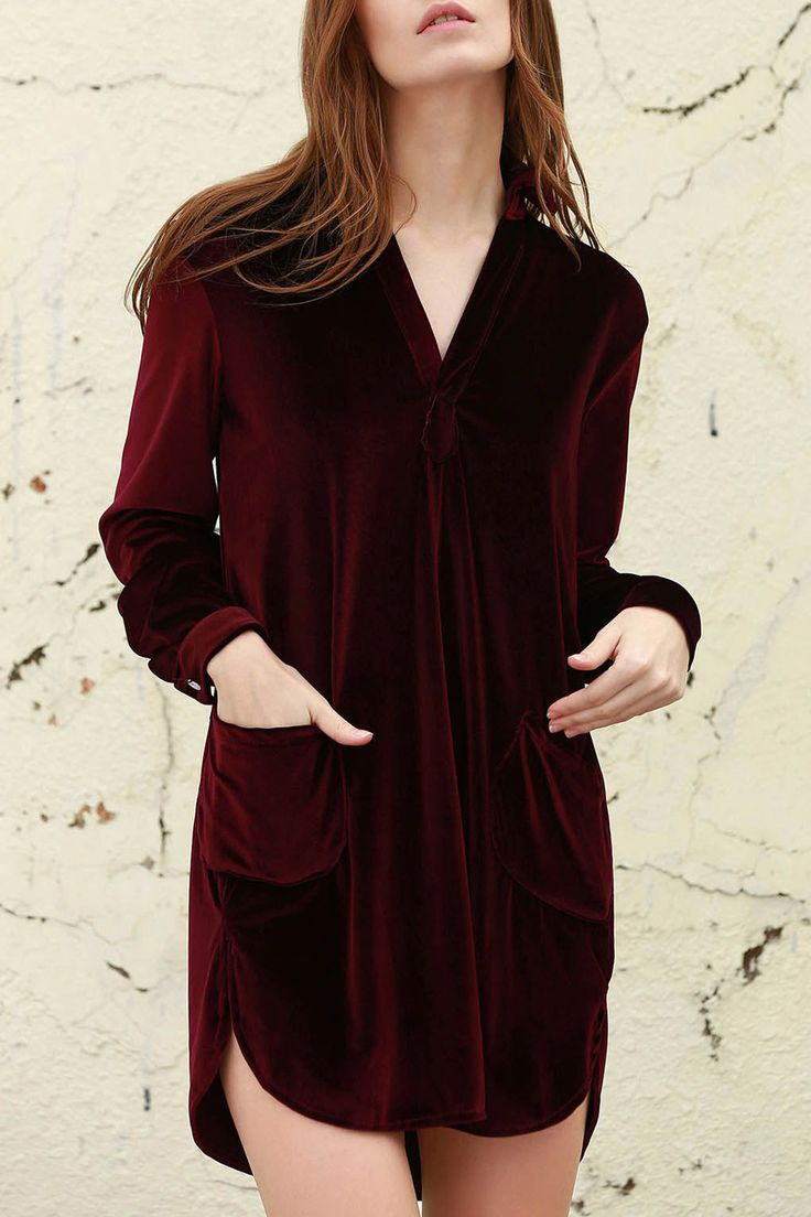 Cozy Velvet Long Sleeve Dresses