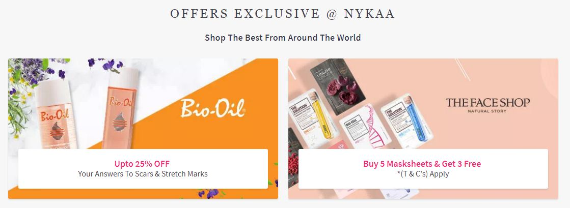 Exclusive Offers At Nykaa