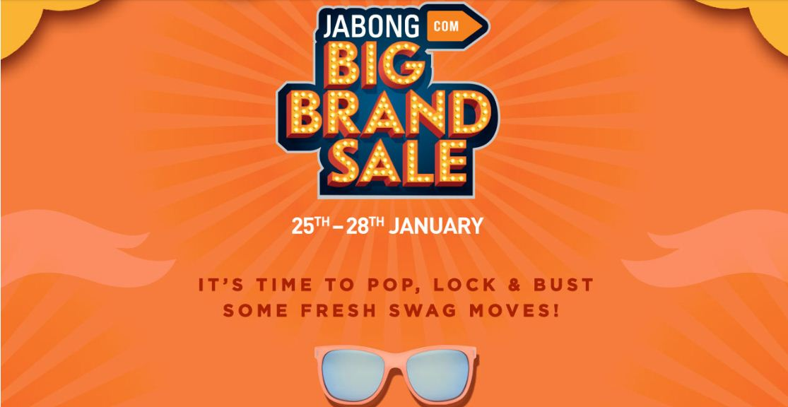 Jabong Big Brand Day Sale 25th to 28th January