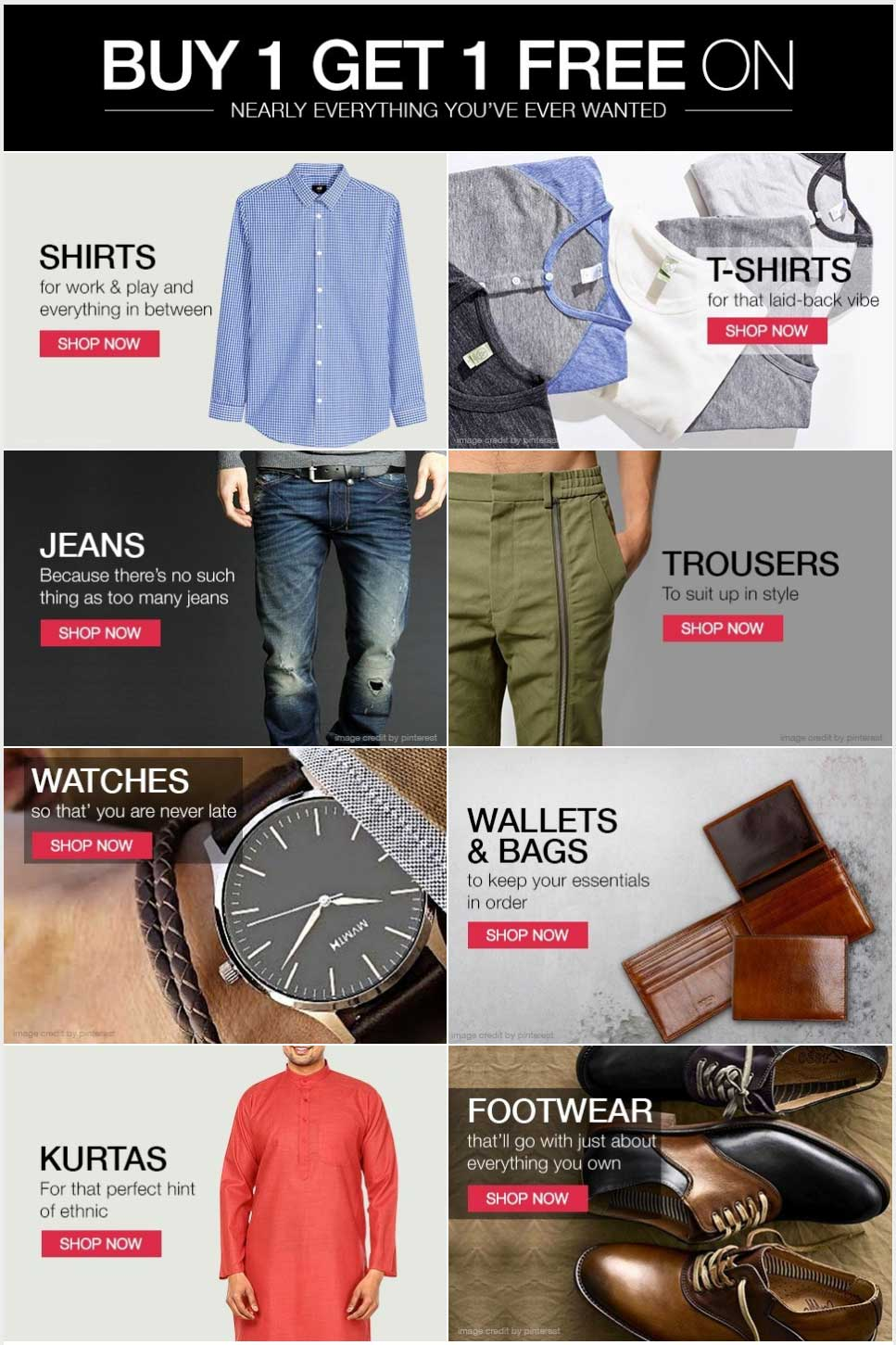 Limeroad Sale Bye 1 Get 1 Free For Men Wear