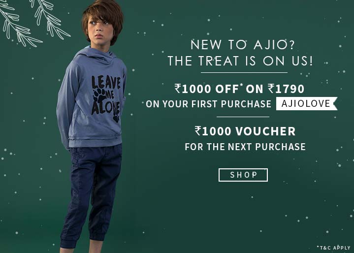 New To Ajio Offers For Kids