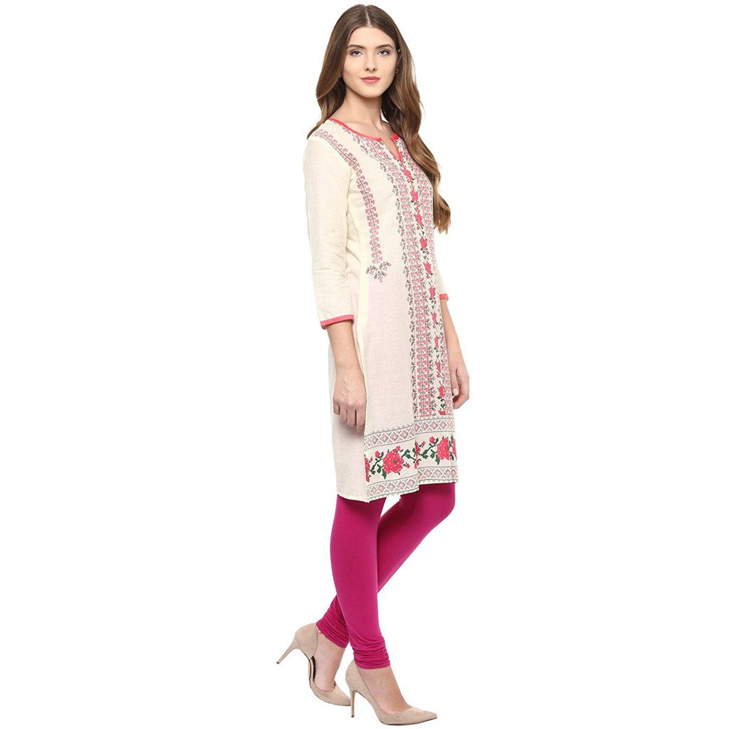 Rangeelo Rajasthan Printed Women's Long Straight Cotton Kurta