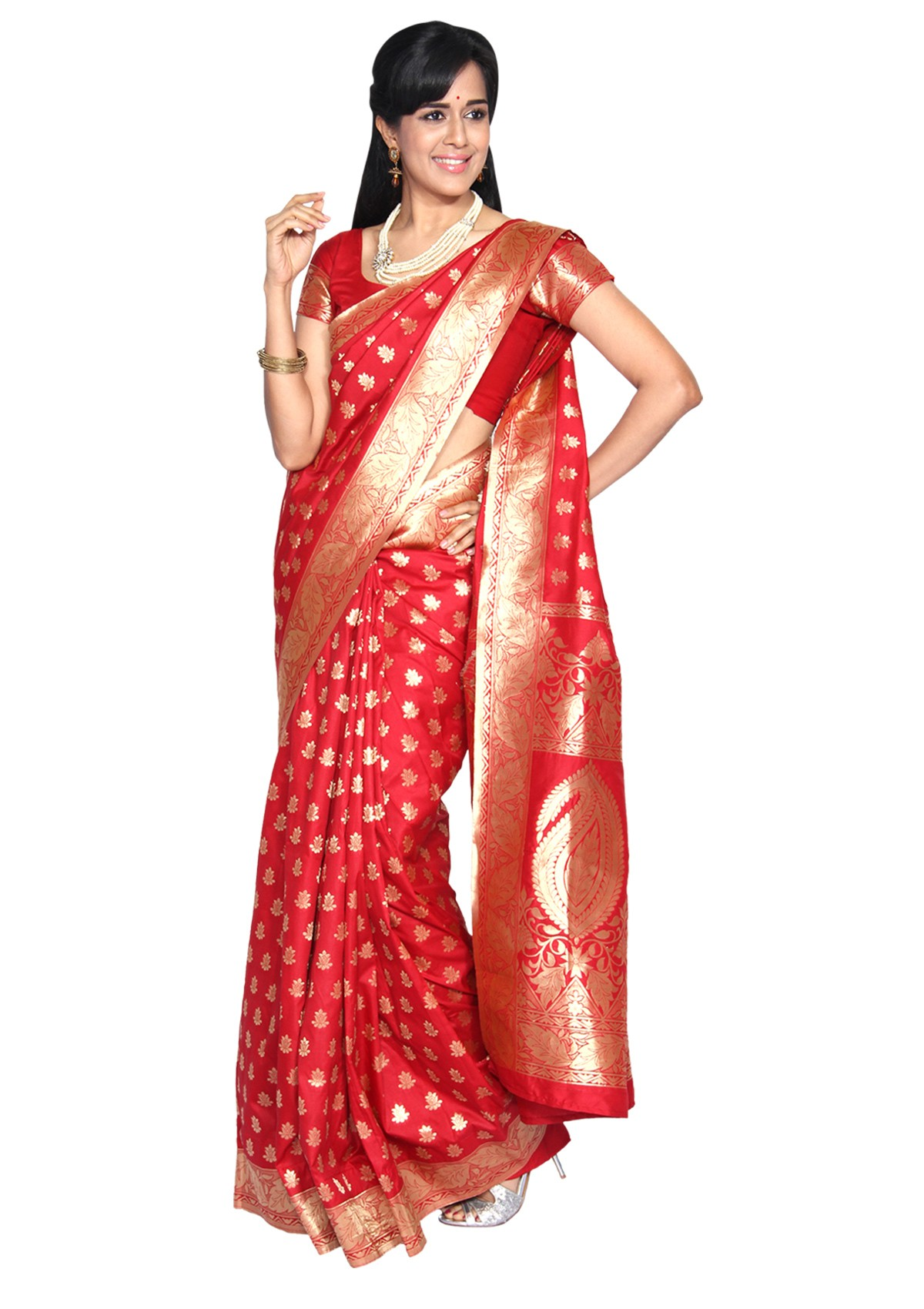 Red banarasi Silk Sarees
