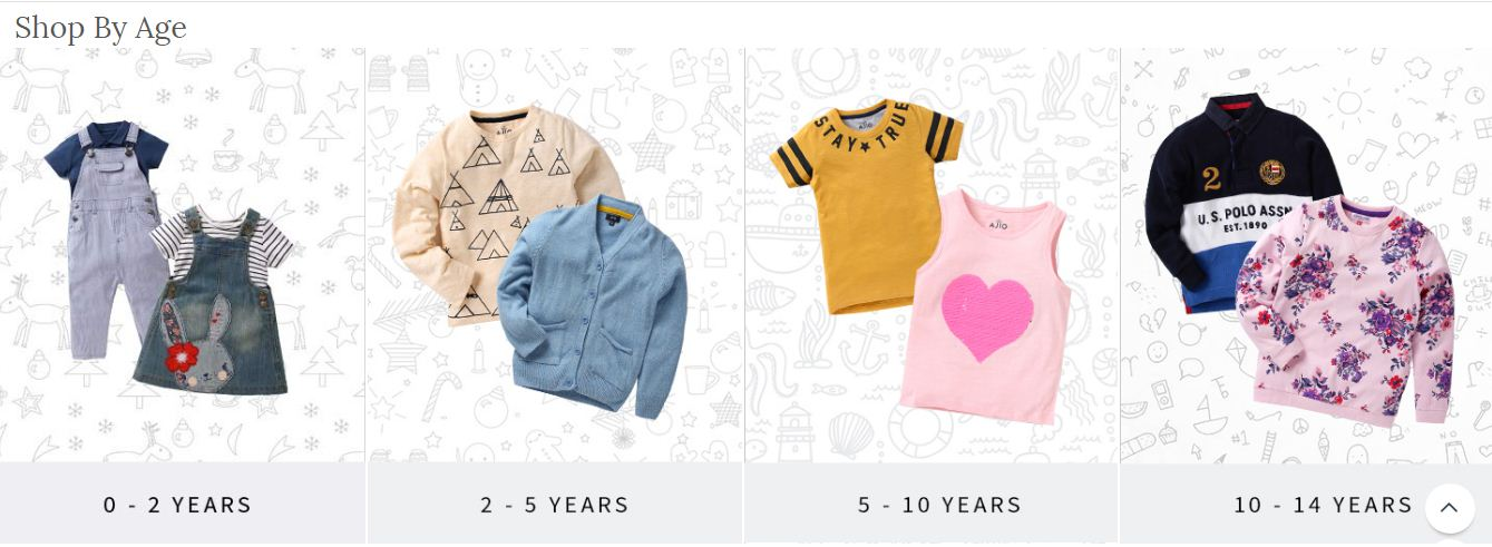 Shop By Age For Kids Wear