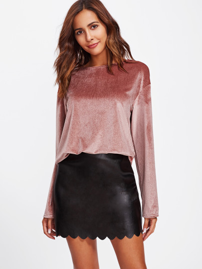 Shop Drape Back Velvet Top online