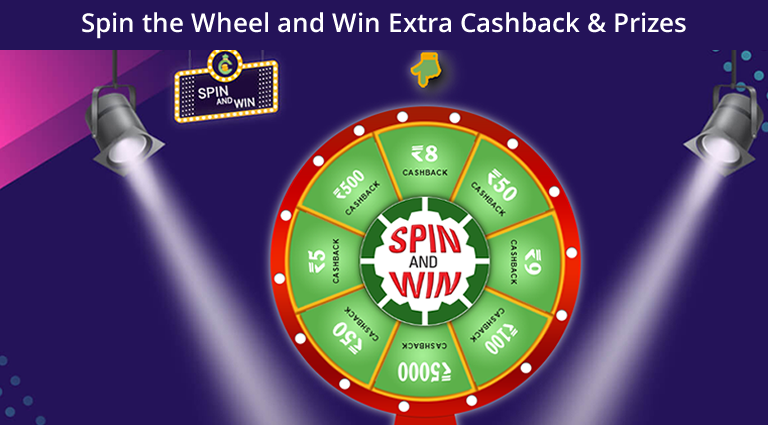 Spin and Win amazing Cashback with Cubber