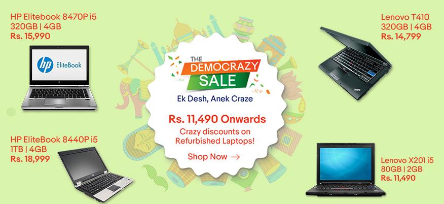 Ebay  The Democrazy Sale Crazy Discount On Laptop