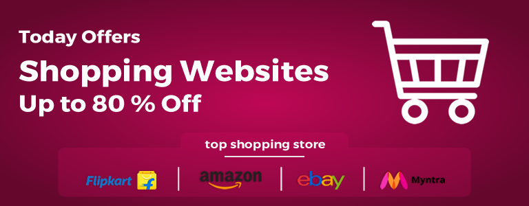 Todays Online Offers On Shopping Websites India Up to 80 Percent Off