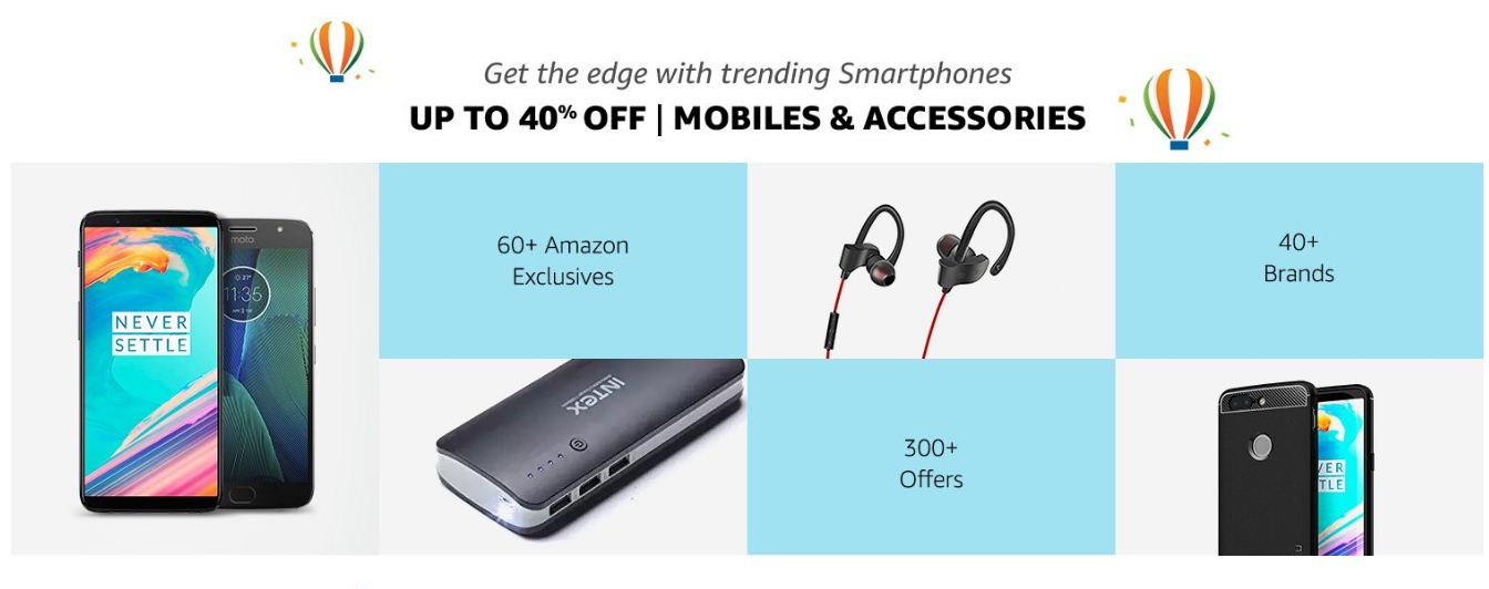 Amazon Up to 40% Off On Mobile and Accessories