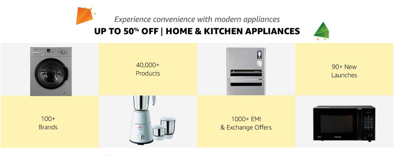 Amazon Up to 50% Off On Home and Kitchen Appliances