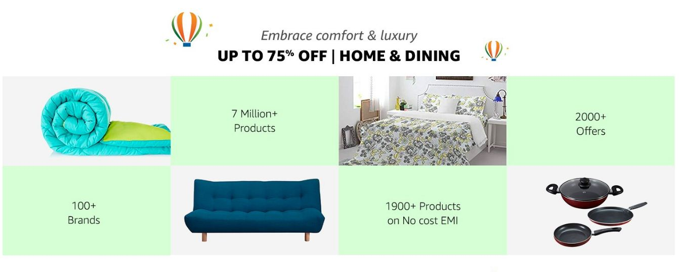 Amazon Up to 75% Off On Home and Dining