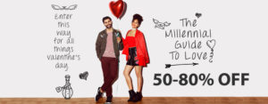 Jabong - Valentines Day Offers Sale 10th to 14th February 2018