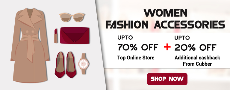 Buy Women Fashion Accessories Online Up to 70% Off + Extra Cashback From Cubber