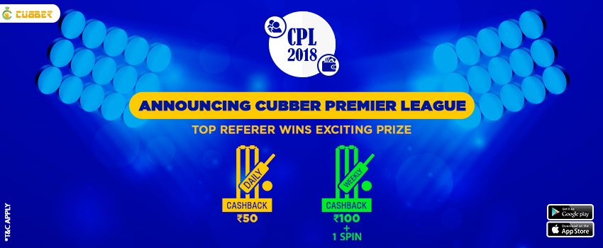 Refer Your Friends and Win Extra Cashback Coupon Spins by Cubber Premier League